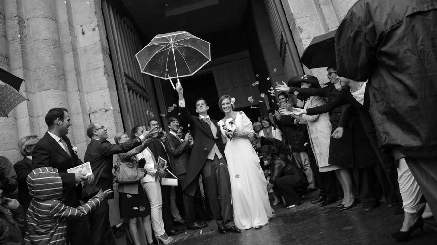 photo mariage sortie église